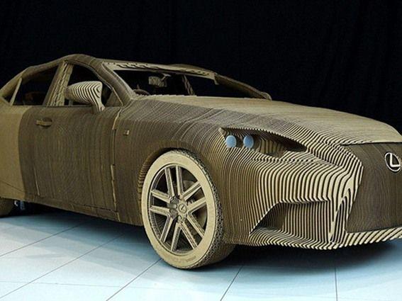 لكزس تصنع سيارة من الورق المقوى - صحيفة الجامعة