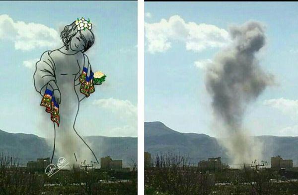 فنانة يمنية تحول صور الدمار إلى لوحات فنية (صور) - صحيفة الجامعة