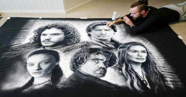 فنان نرويجي يبتكر طريقة مذهلة للرسم بالملح (صور) - صحيفة الجامعة