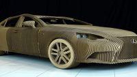 لكزس تصنع سيارة من الورق المقوى