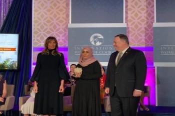 يمنية تحصد أبرز جائزة أمريكية للمرأة الشجاعة والمؤثرة في مجتمعها