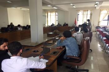 زيارة طلابية للمعهد الدبلوماسي بوزارة الخارجية لطلاب كلية التجارة