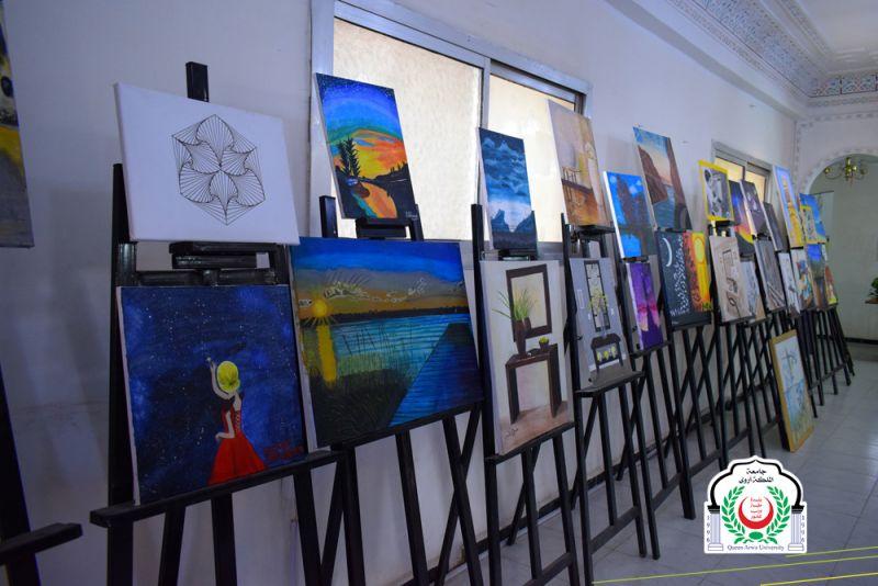 جامعة الملكة أروى تشارك في فعالية [ المعرض الفني التشكيلي المفتوح ]