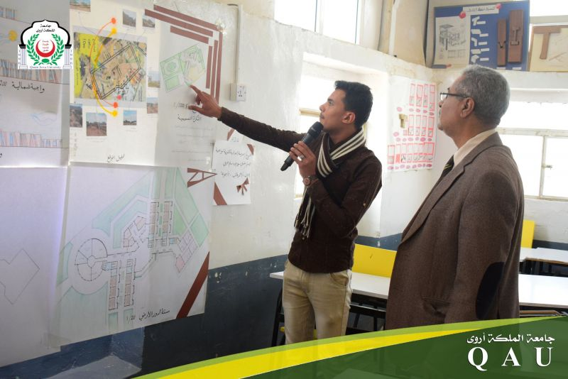 بدء مناقشة مشاريع التصميم المعماري في قسم الهندسة المعمارية (مستوى ثاني)