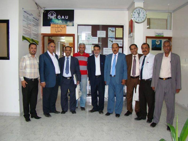 زيارة لجنة من مركز الإعتماد الأكاديمي وضمان الجودة في التعليم العالي