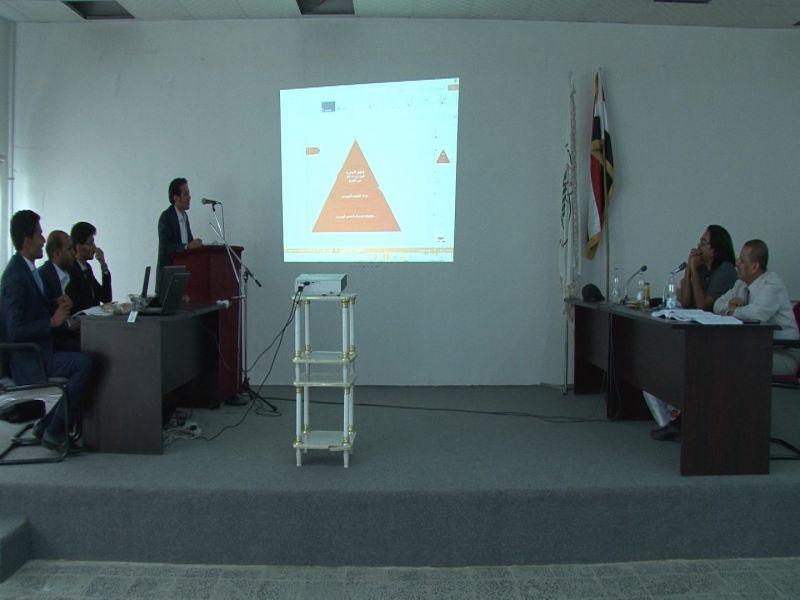 مناقشة مشاريع التخرج لقسم الهندسة المدنية  للعام الجامعي 2016 – 2017م