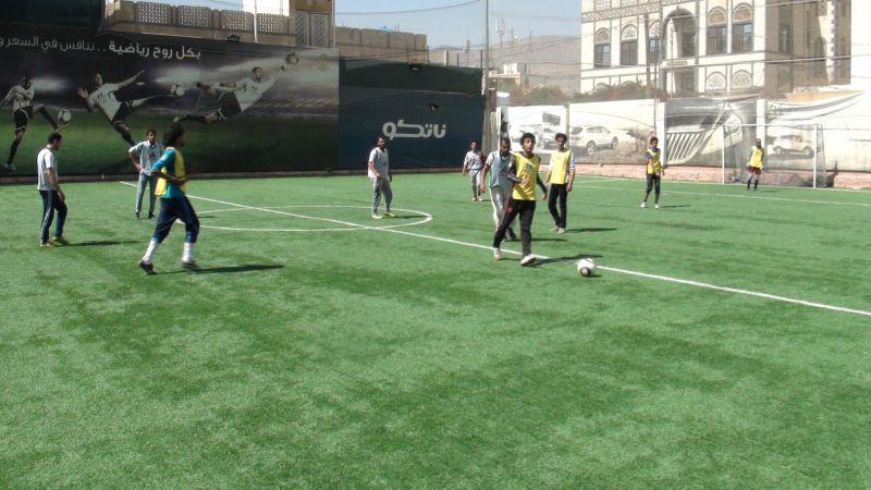 نشاط كرة قدم بين كليات الجامعة المختلفة مارس 2018