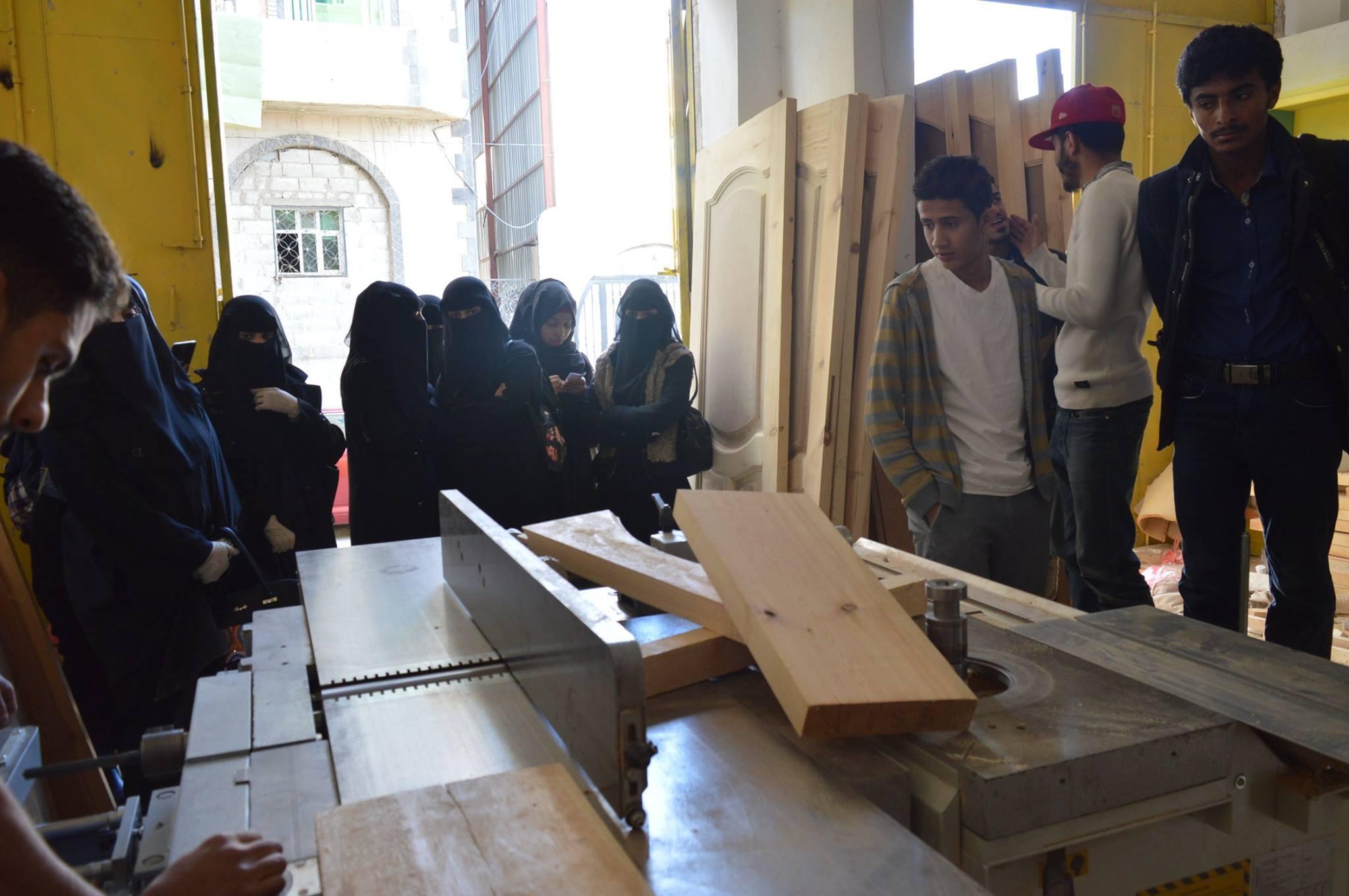 النزول الميداني لطلاب قسم الهندسة المعمارية وهندسة الديكور
