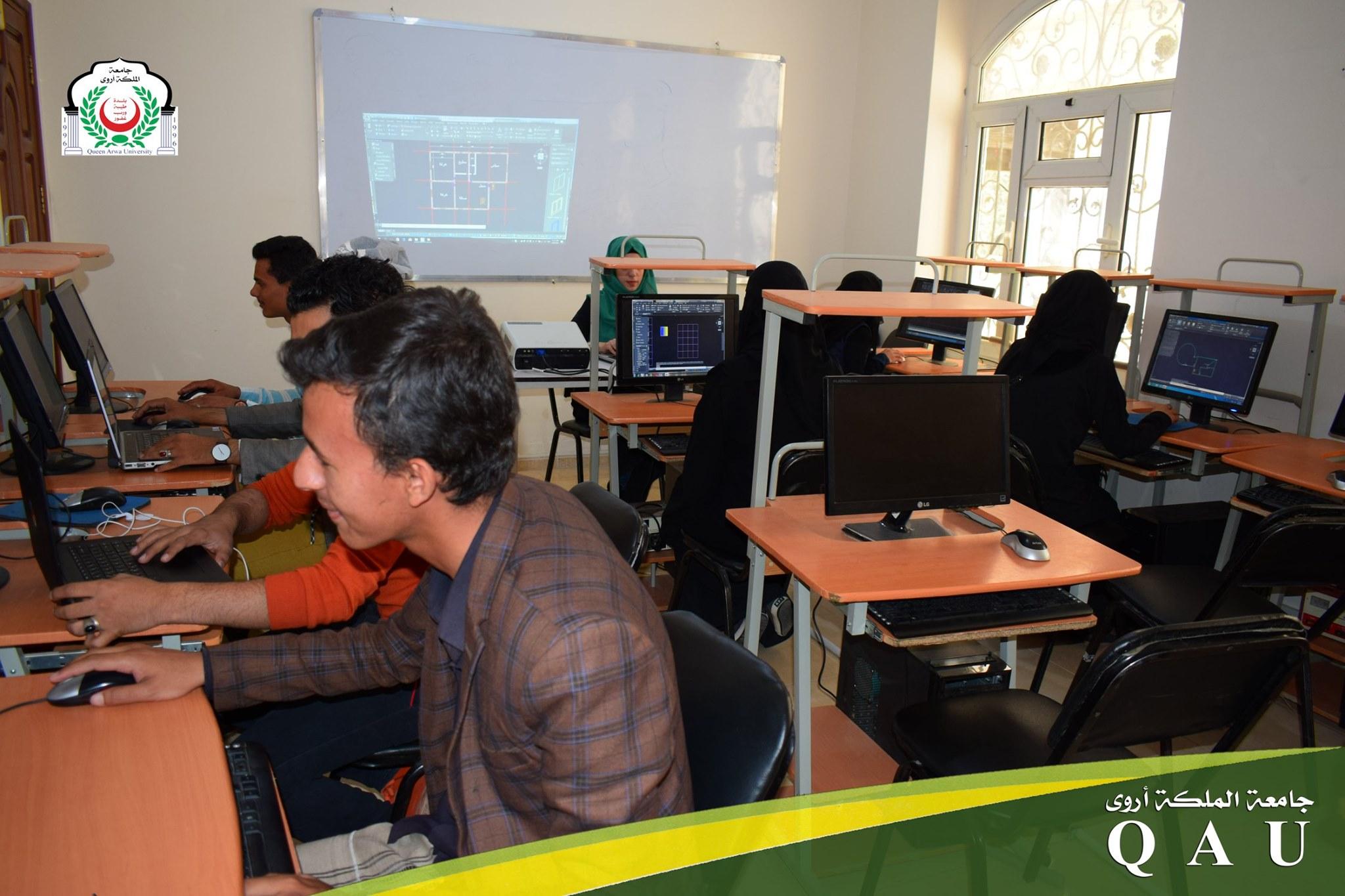 دورات تدريبية لطلاب قسم العمارة والديكور